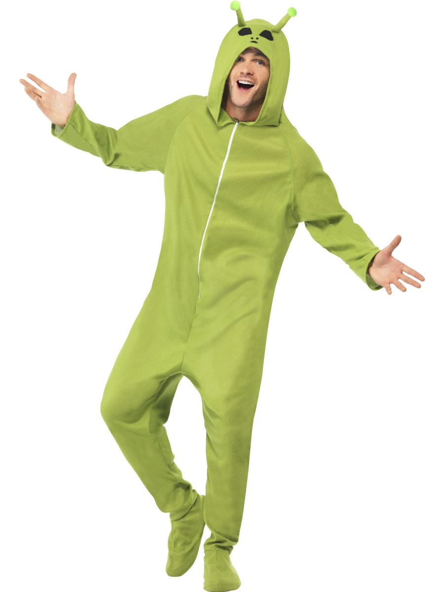 Alien Men's Halloween Fancy Dress Costume