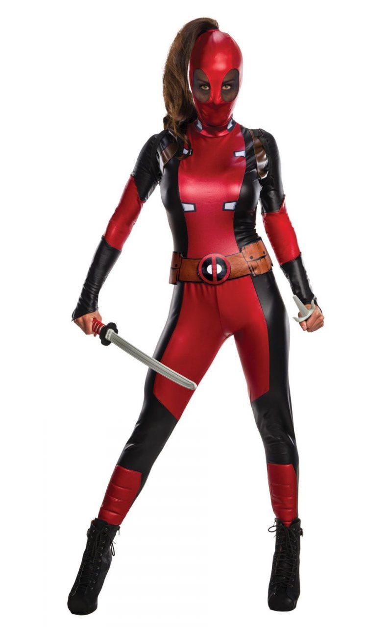 Secret Wishes Marvel Deadpool Ladies Fancy Dress Costume