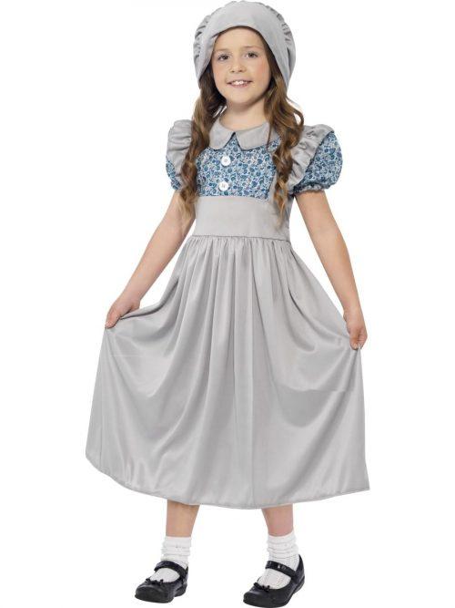 Victorian School Girl Children's Fancy Dress Costume