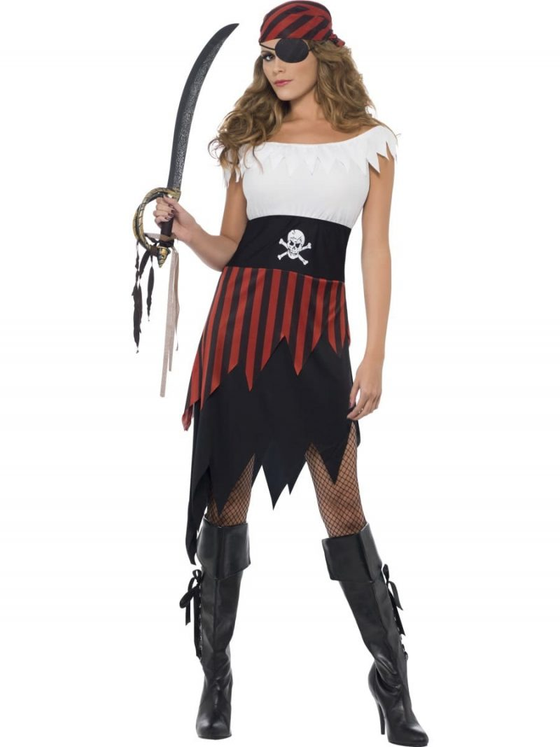 Pirate Wench Ladies Fancy Dress Costume