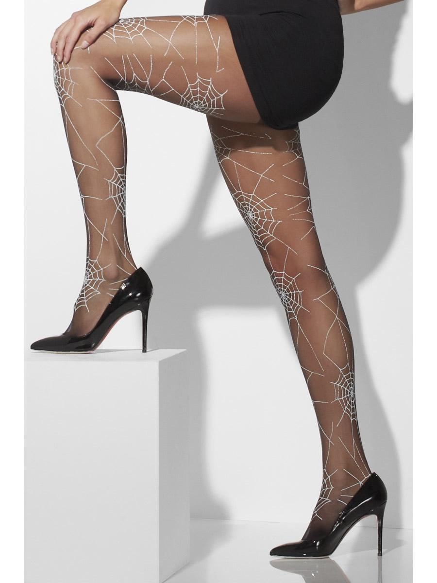 Black Tights With Spiderweb Design
