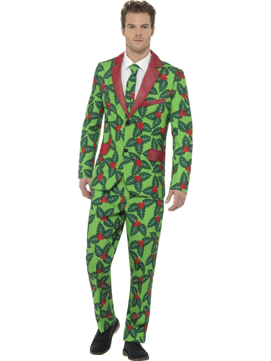 Holly Berry Standout Suit Christmas Fancy Dress Costume