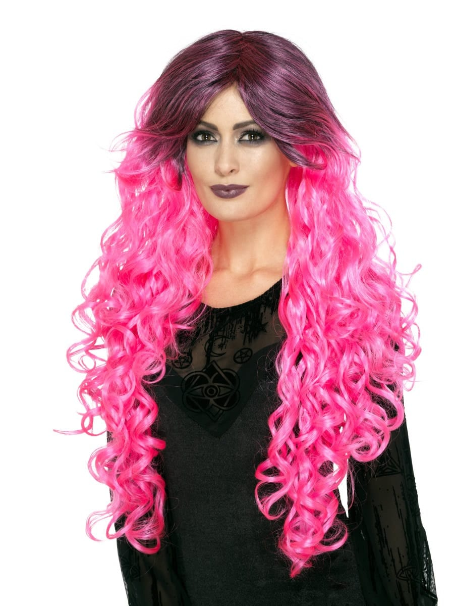 Gothic Glamour Neon Pink Wig
