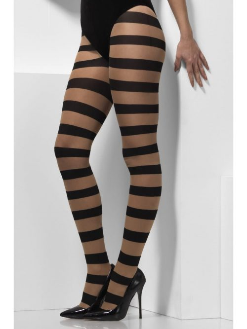Glam Witch Tights with Stripes