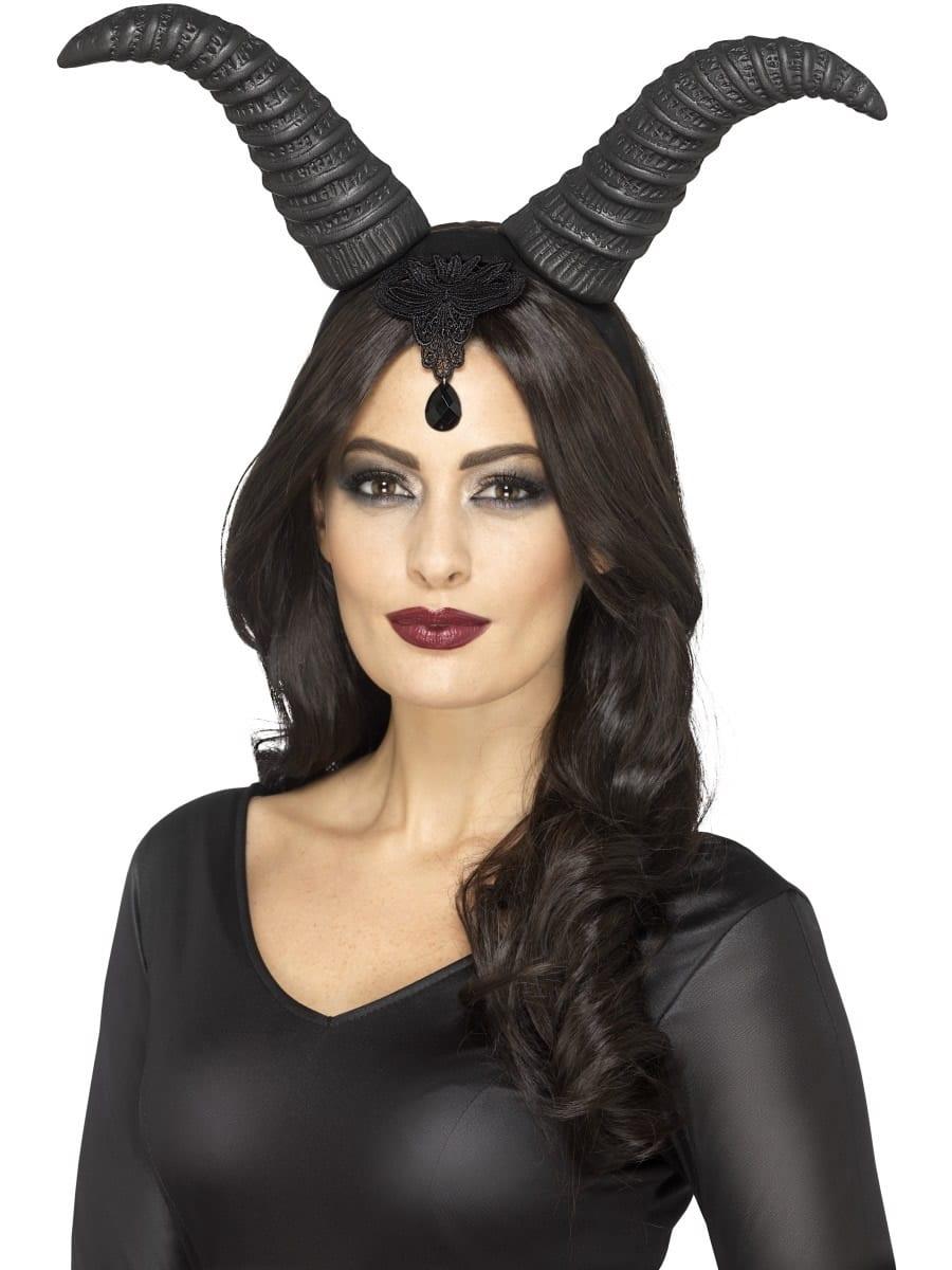 Demonic Queen Horns on Headband