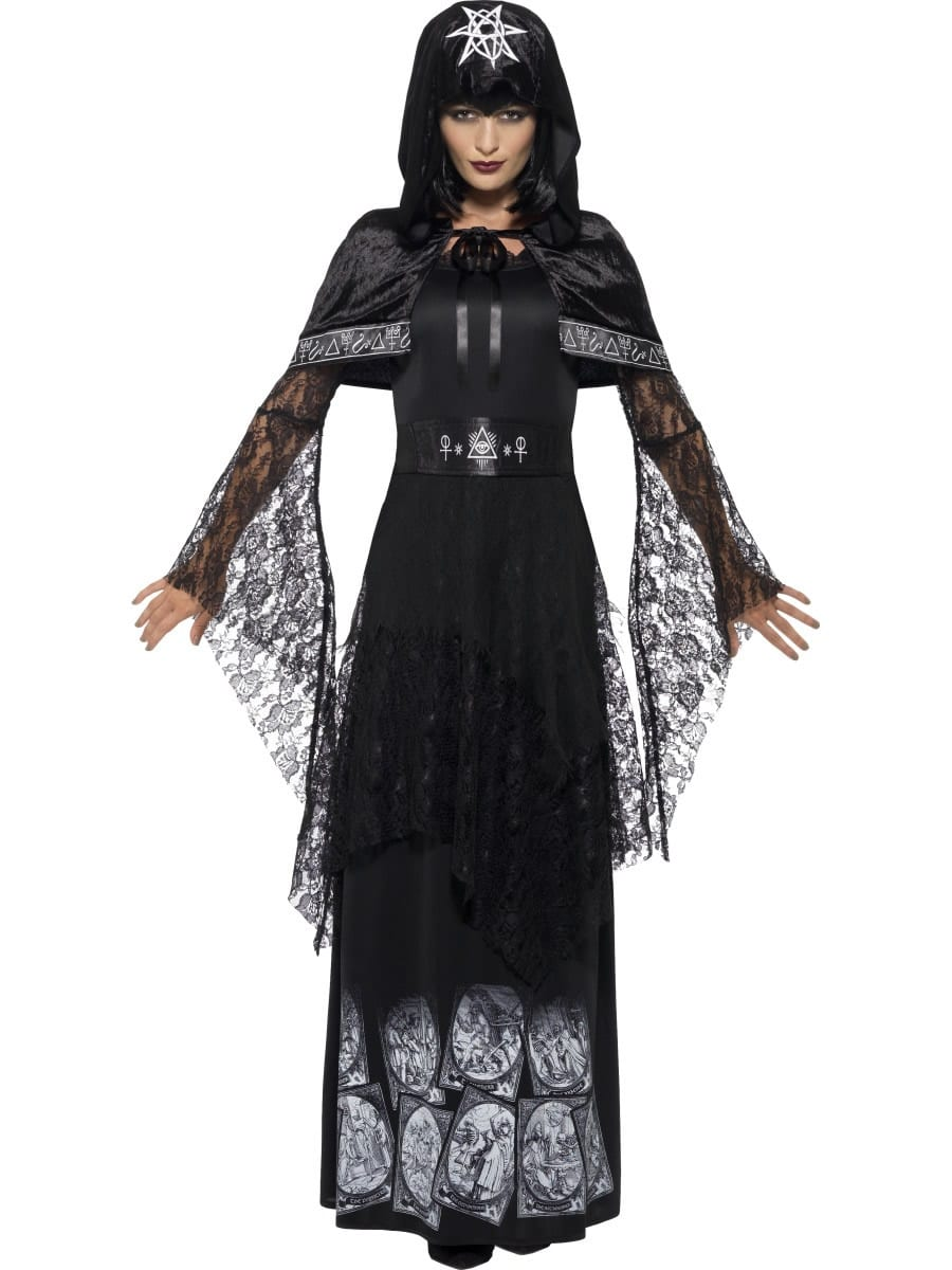 Black Magic Mistress Ladies Halloween Fancy Dress Costume