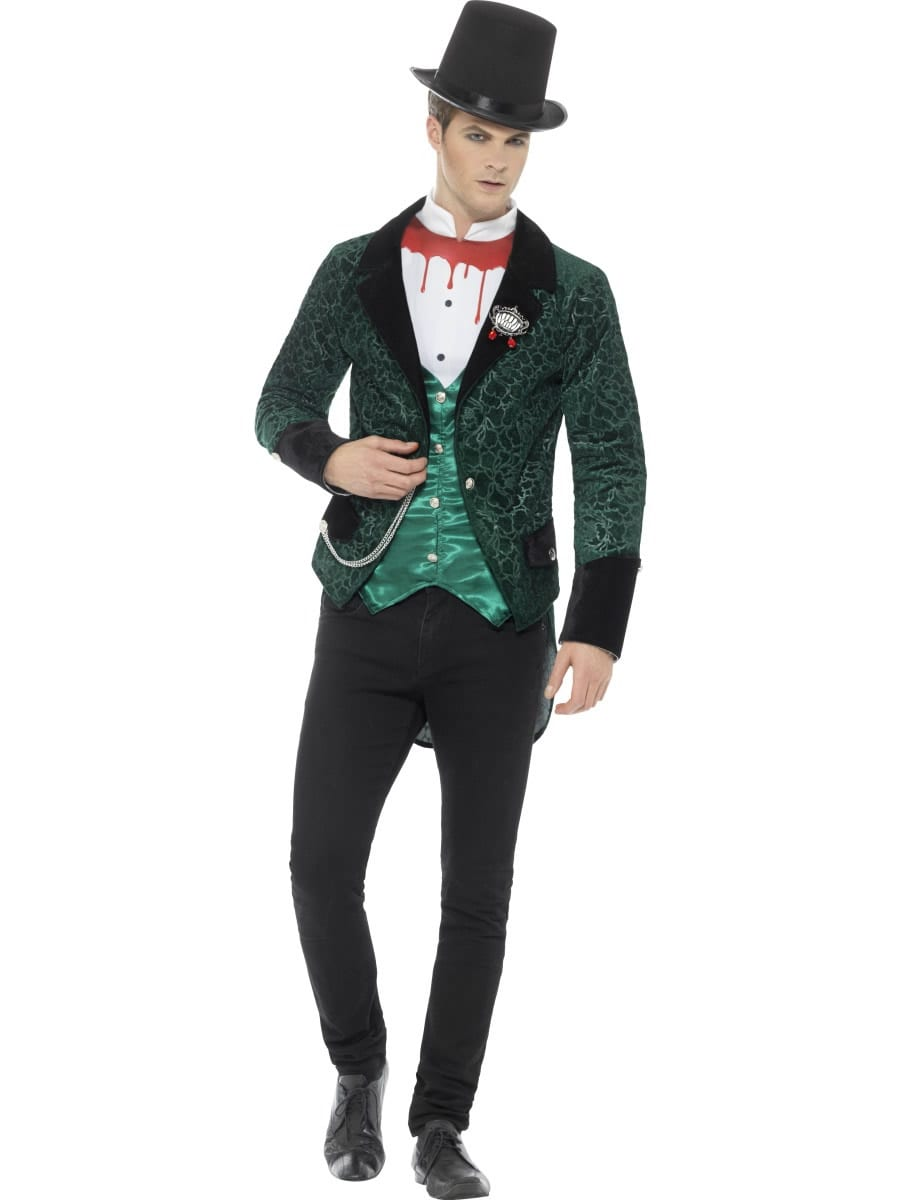 Deluxe Victorian Vampire Men's Halloween Fancy Dress Costume