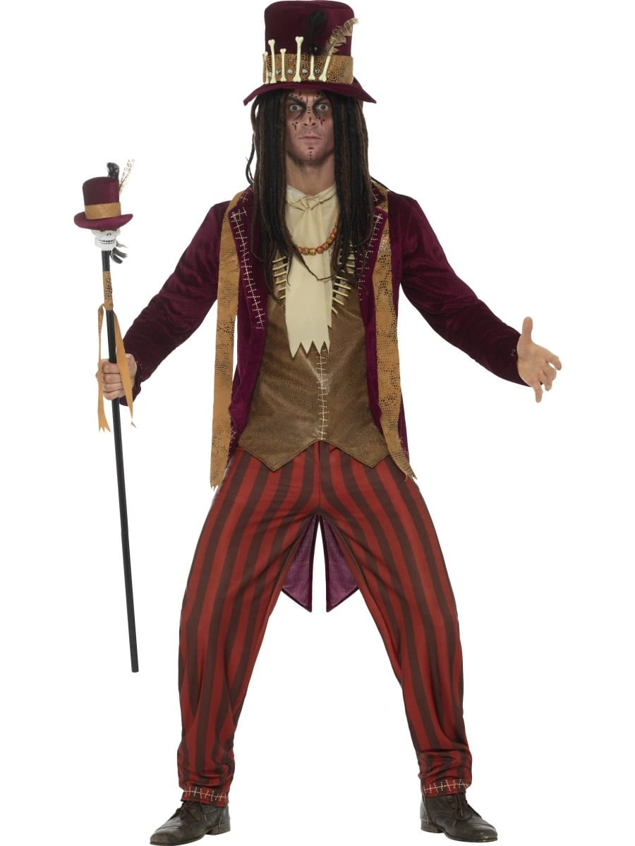 Deluxe Voodoo Witch Doctor Men's Halloween Fancy Dress Costume