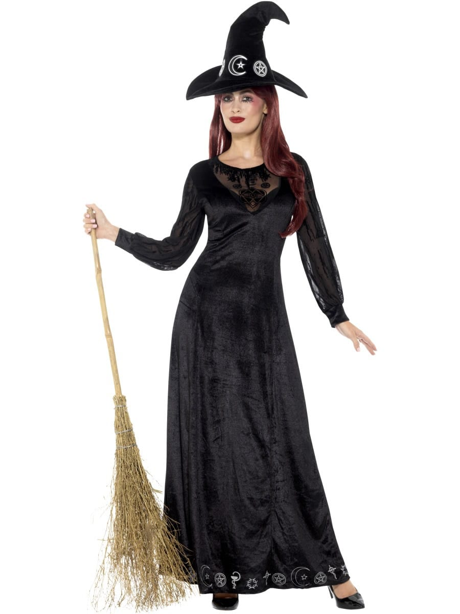 Deluxe Witch Craft Ladies Halloween Fancy Dress Costume