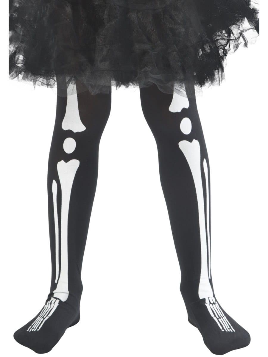 Skeleton Print Tights AGE 8-12 Years