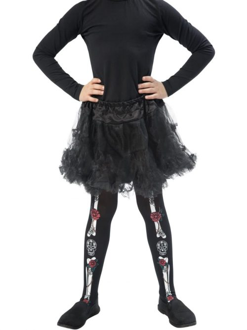 Day of the Dead Print Tights AGE 8-12 Years