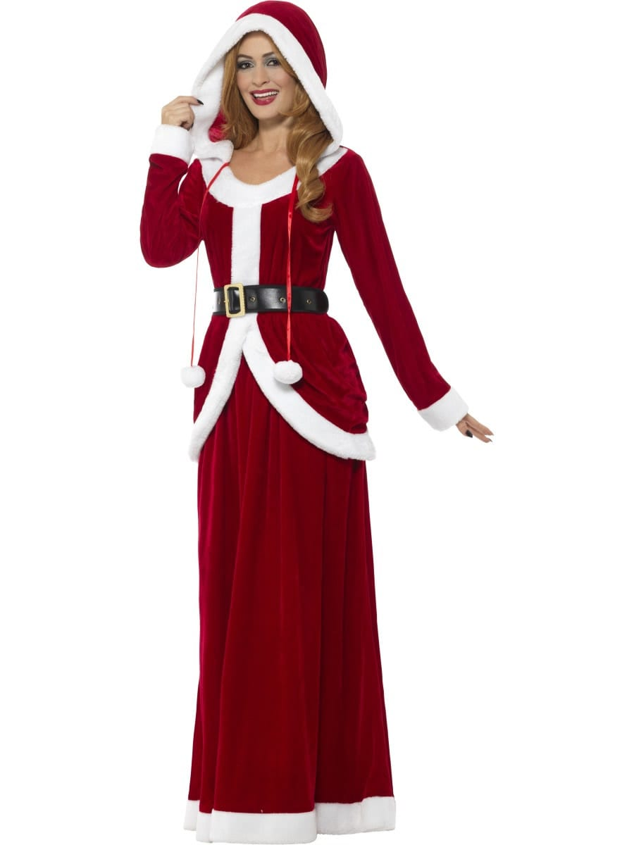 Deluxe Ms Claus Ladies Christmas Fancy Dress Costume