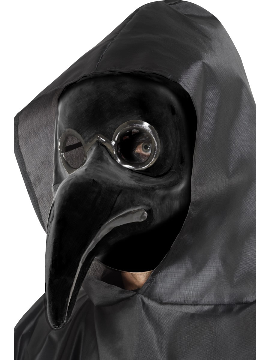 Authentic Plague Doctor Mask, Black