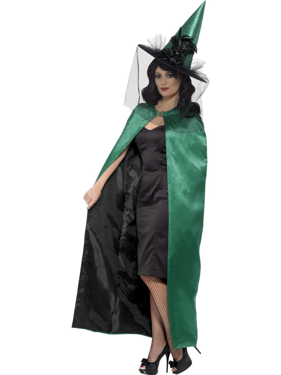 Deluxe Reversible Teal/Black Cape