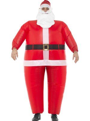 Inflatable Santa Men's Christmas Fancy Dress Costume
