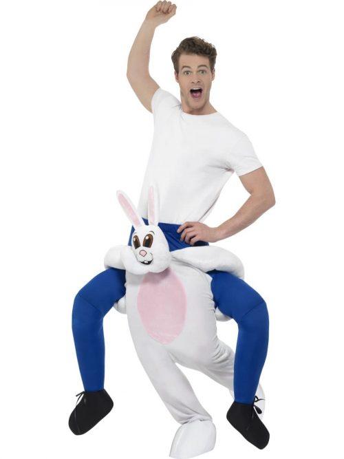 Piggyback Rabbit Unisex Novelty Fancy Dress Costume