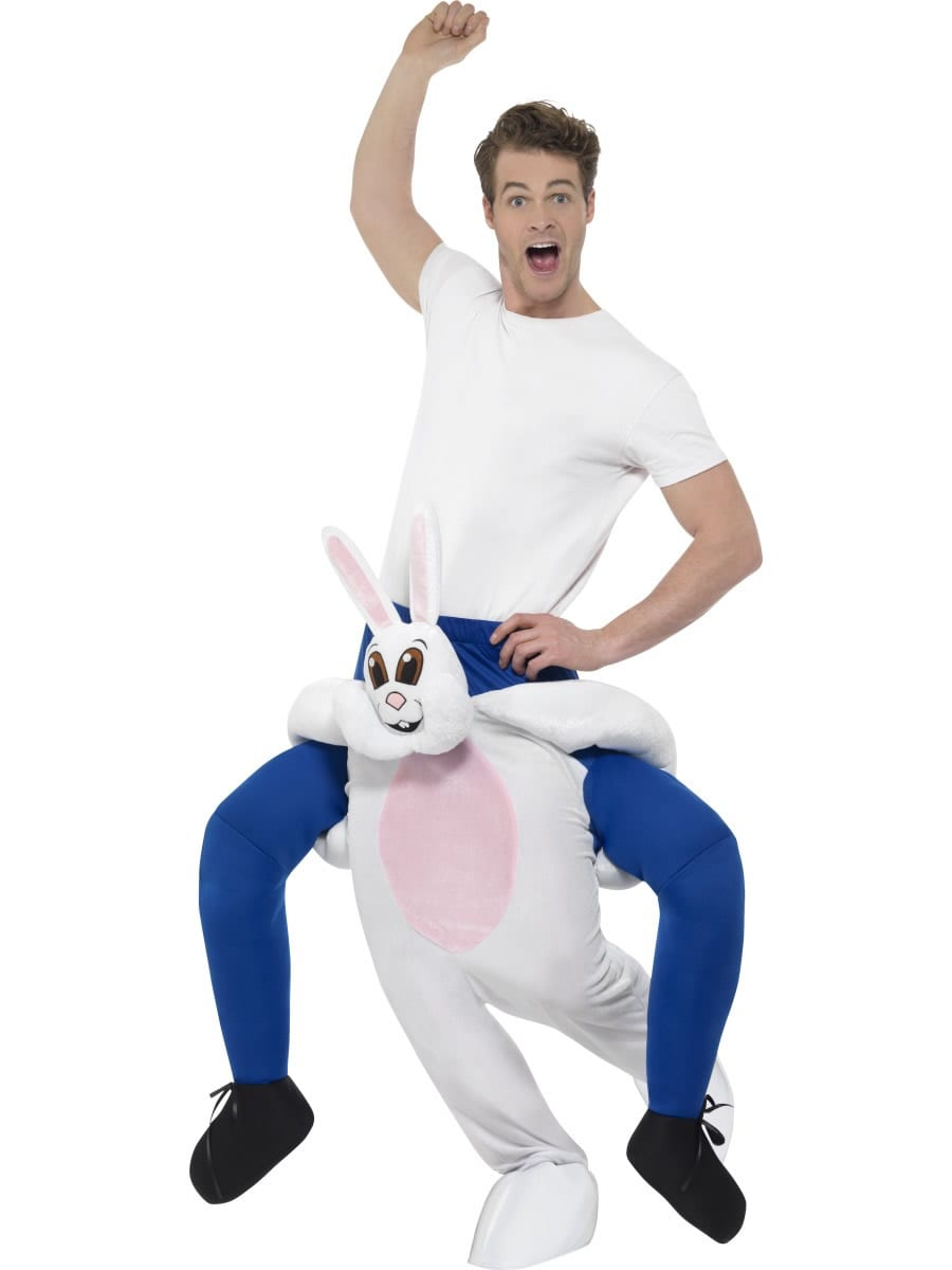 Piggyback Rabbit Unisex Novelty Fancy Dress Costume
