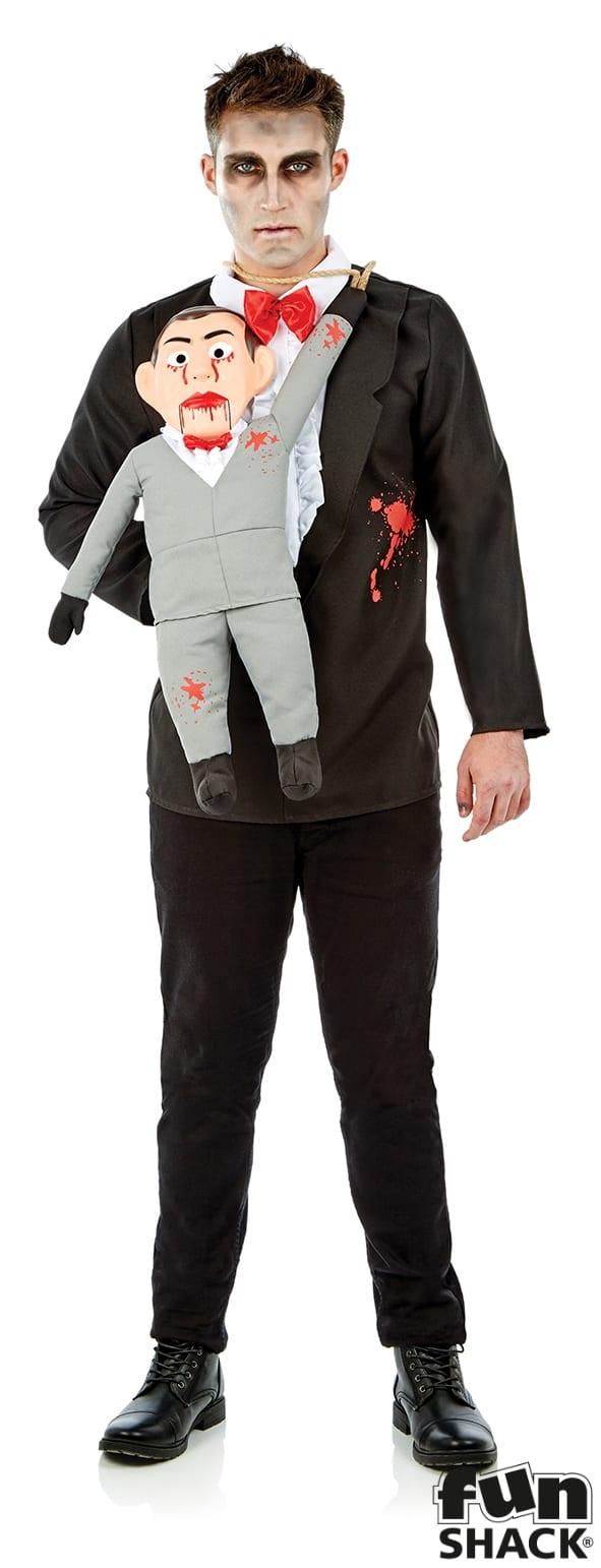 Ventriloquist & Dummy Men's Halloween Fancy Dress Costume