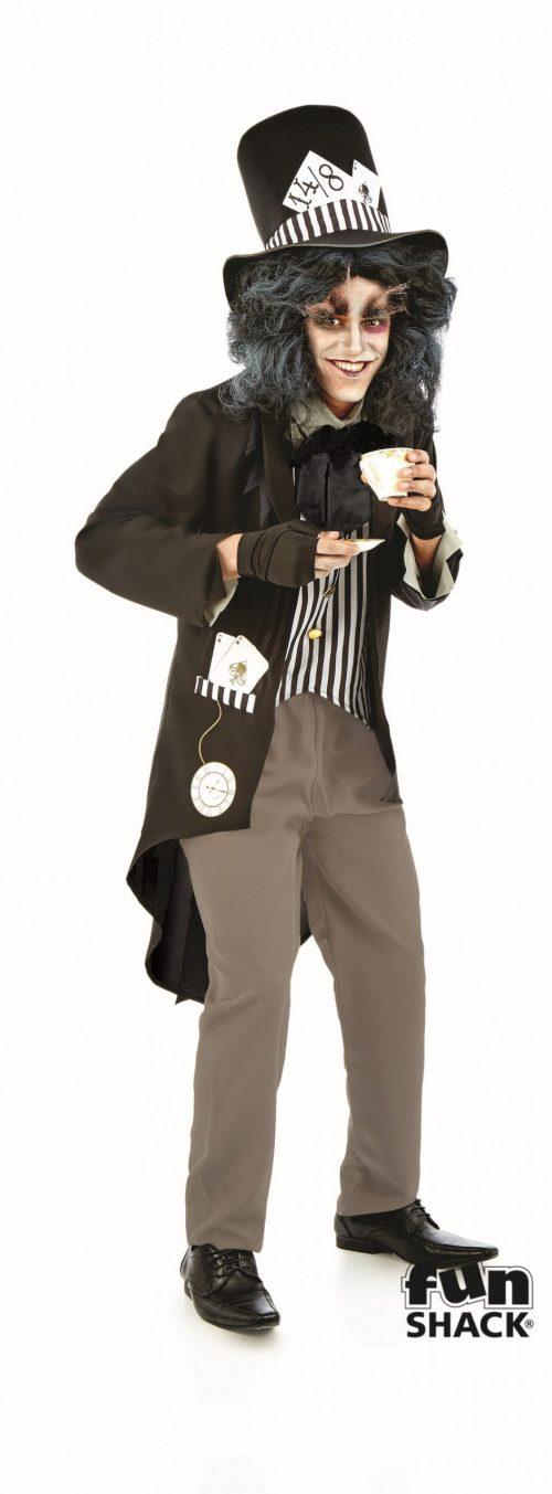 Hallowed Hatter Men's Halloween Fancy Dress Costume