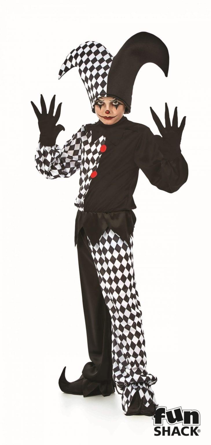 Jester Boy Children's Halloween Fancy Dress Costume