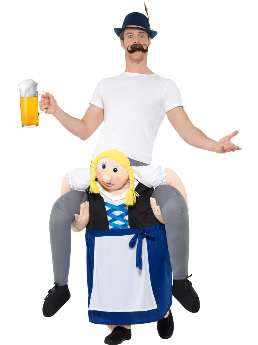 Piggyback Bavarian Beer Maiden Novelty Fancy Dress Costume