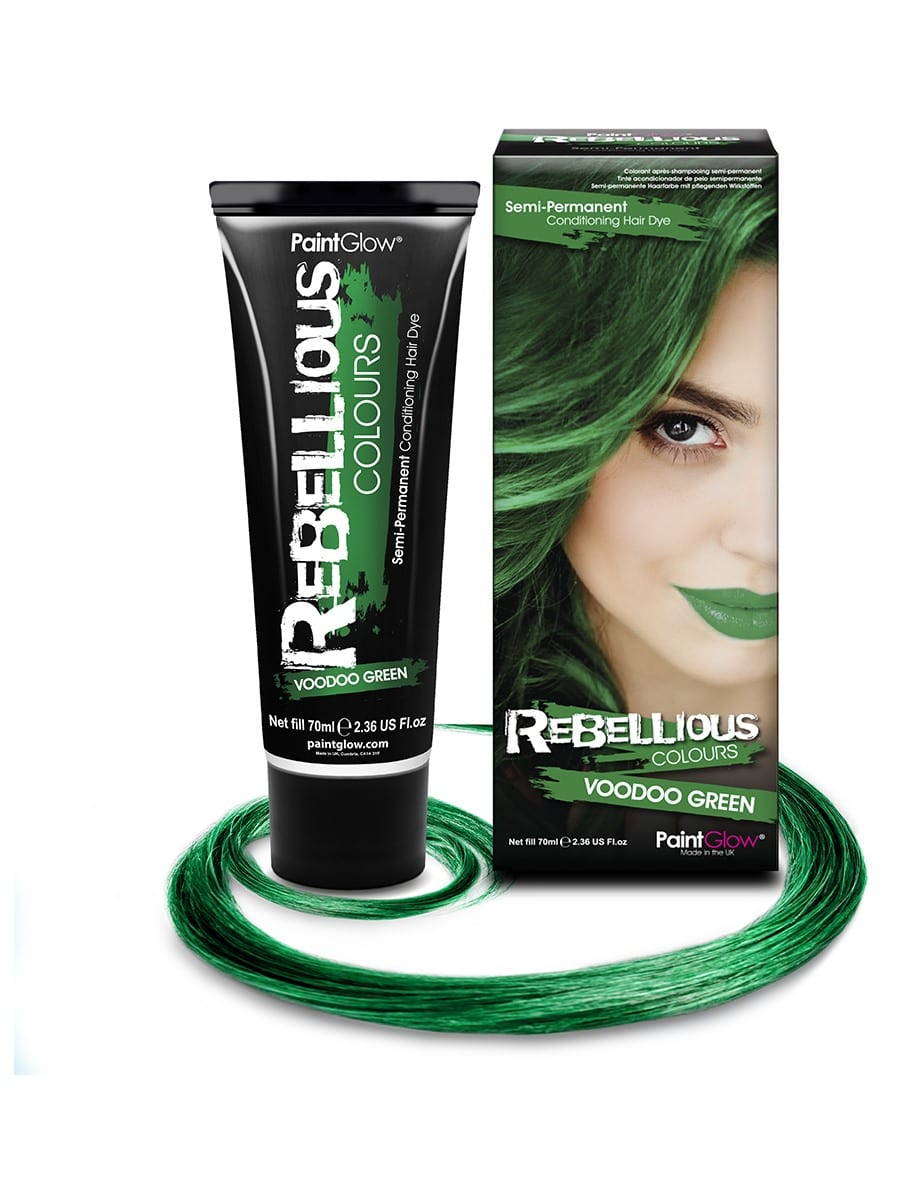 PaintGlow Semi-Permanent Hair Dye Voodoo Green