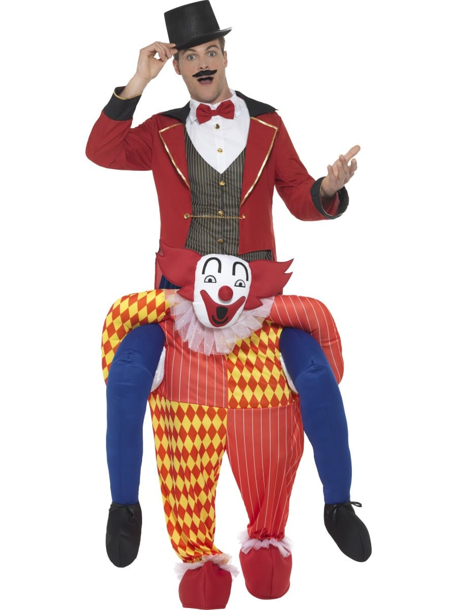 Piggyback Clown Novelty Fancy Dress Costume