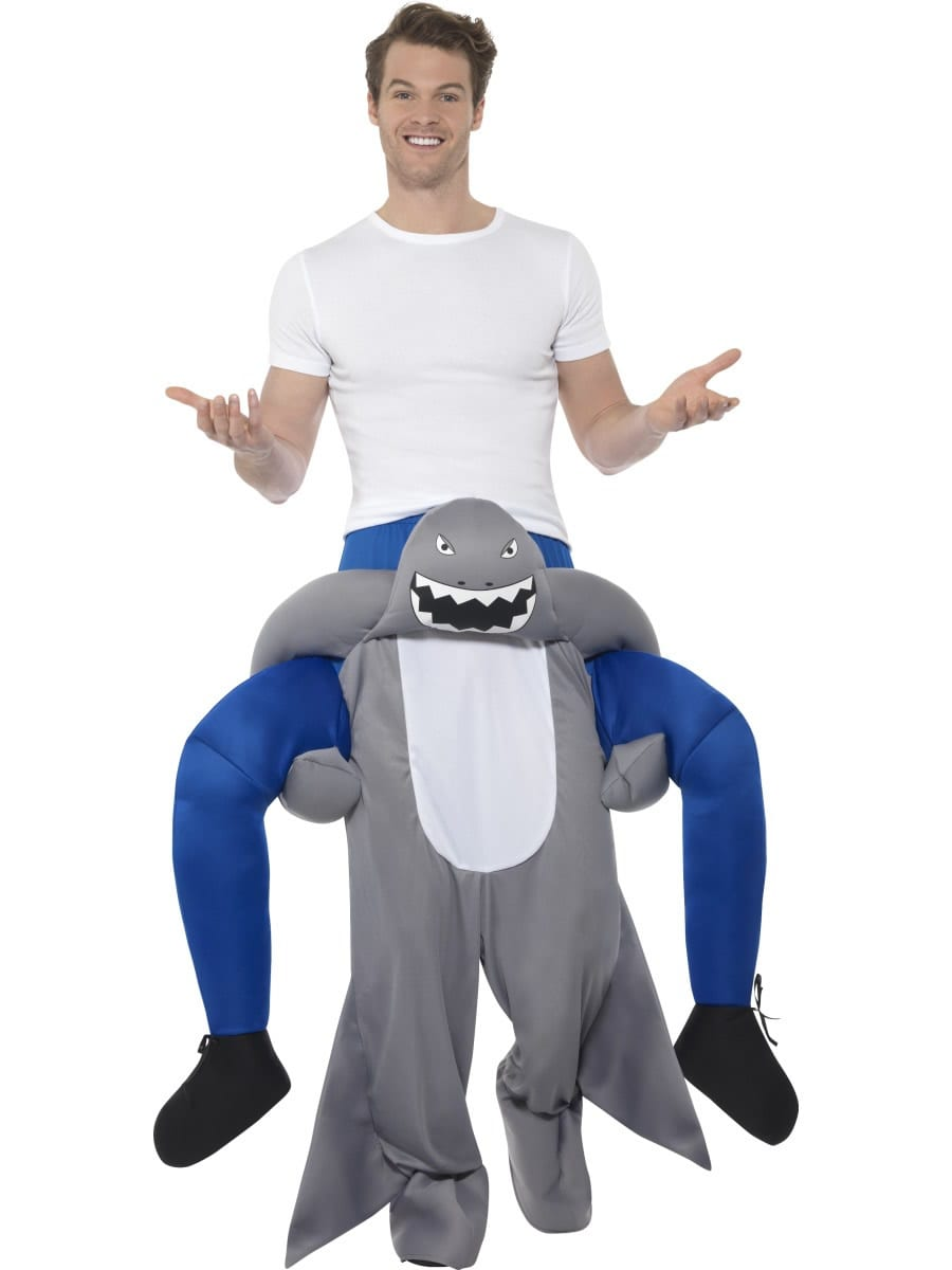 Piggyback Shark Unisex Novelty Fancy Dress Costume
