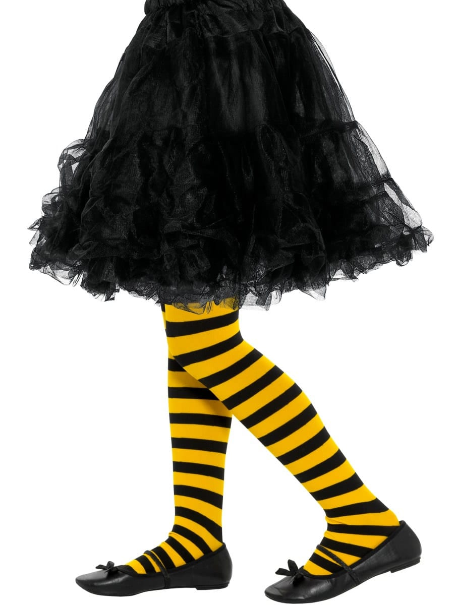 Bee Stripe Tights AGE 8-12 YEARS