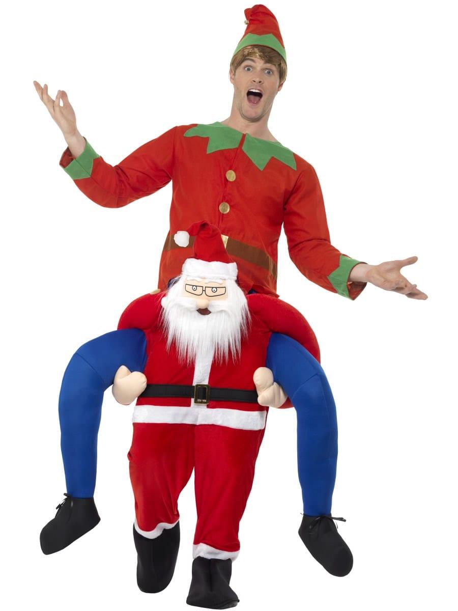 Piggyback Santa Novelty Christmas Fancy Dress Costume