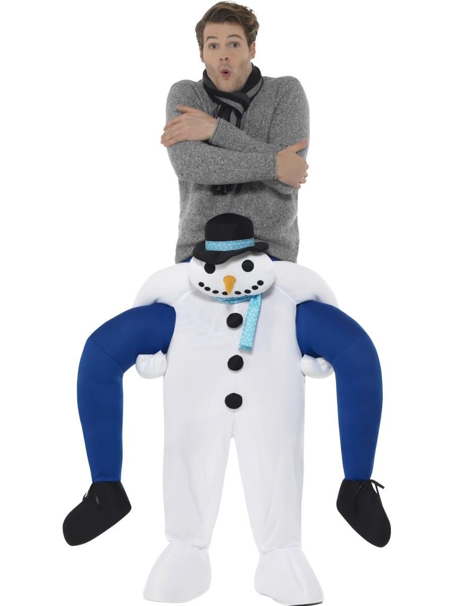 Piggyback Snowman Novelty Christmas Fancy Dress Costume