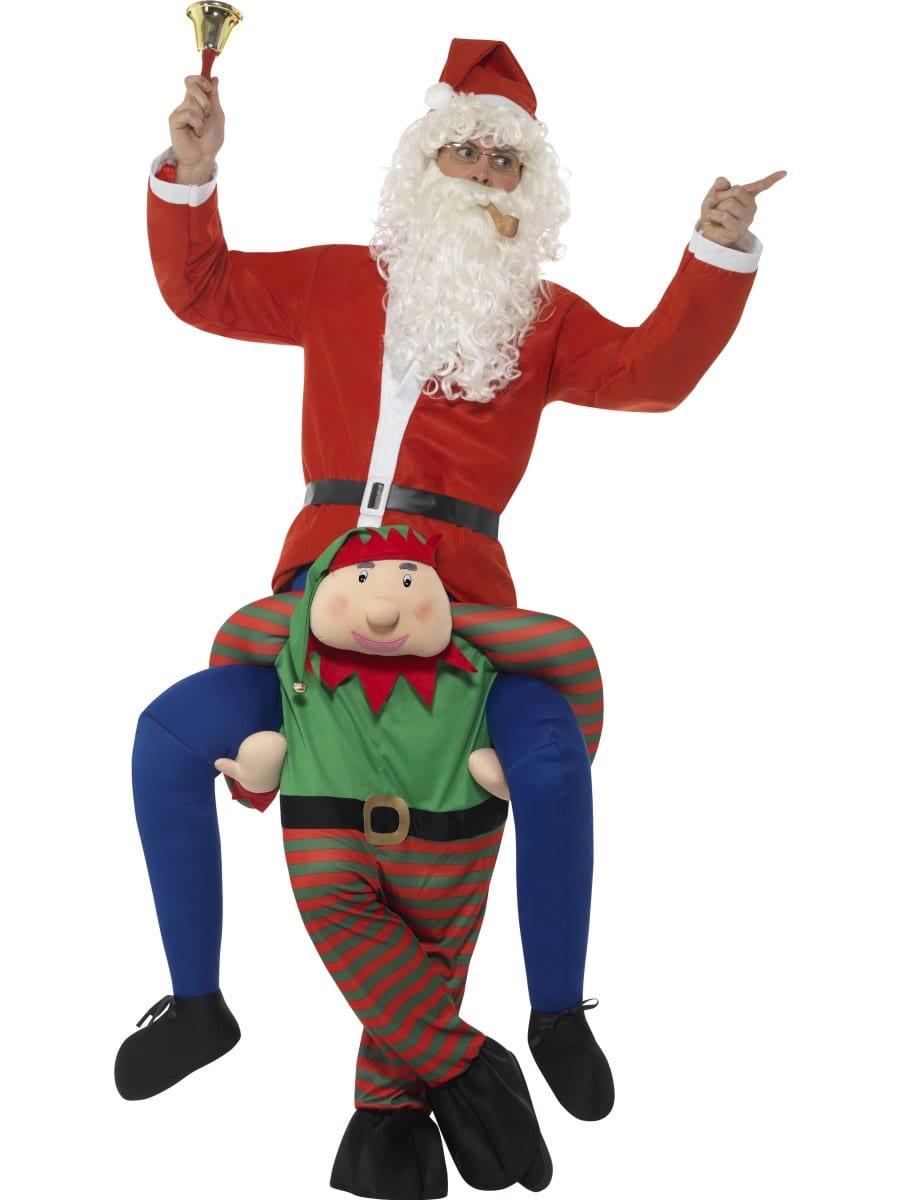 Piggyback Elf Novelty Christmas Fancy Dress Costume