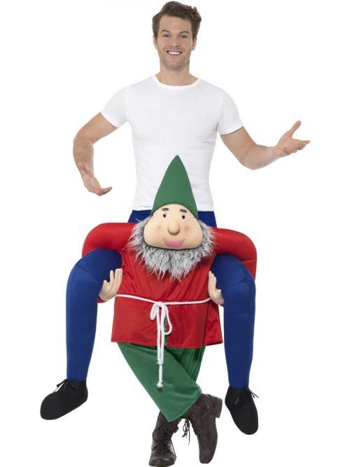Piggyback Gnome Novelty Fancy Dress Costume