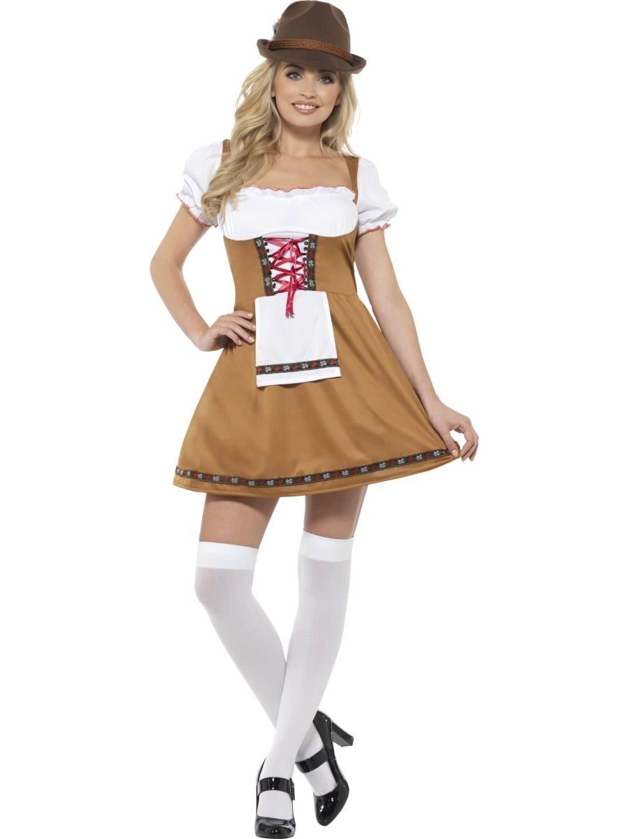 Bavarian Beer Maid Ladies Fancy Dress Costume