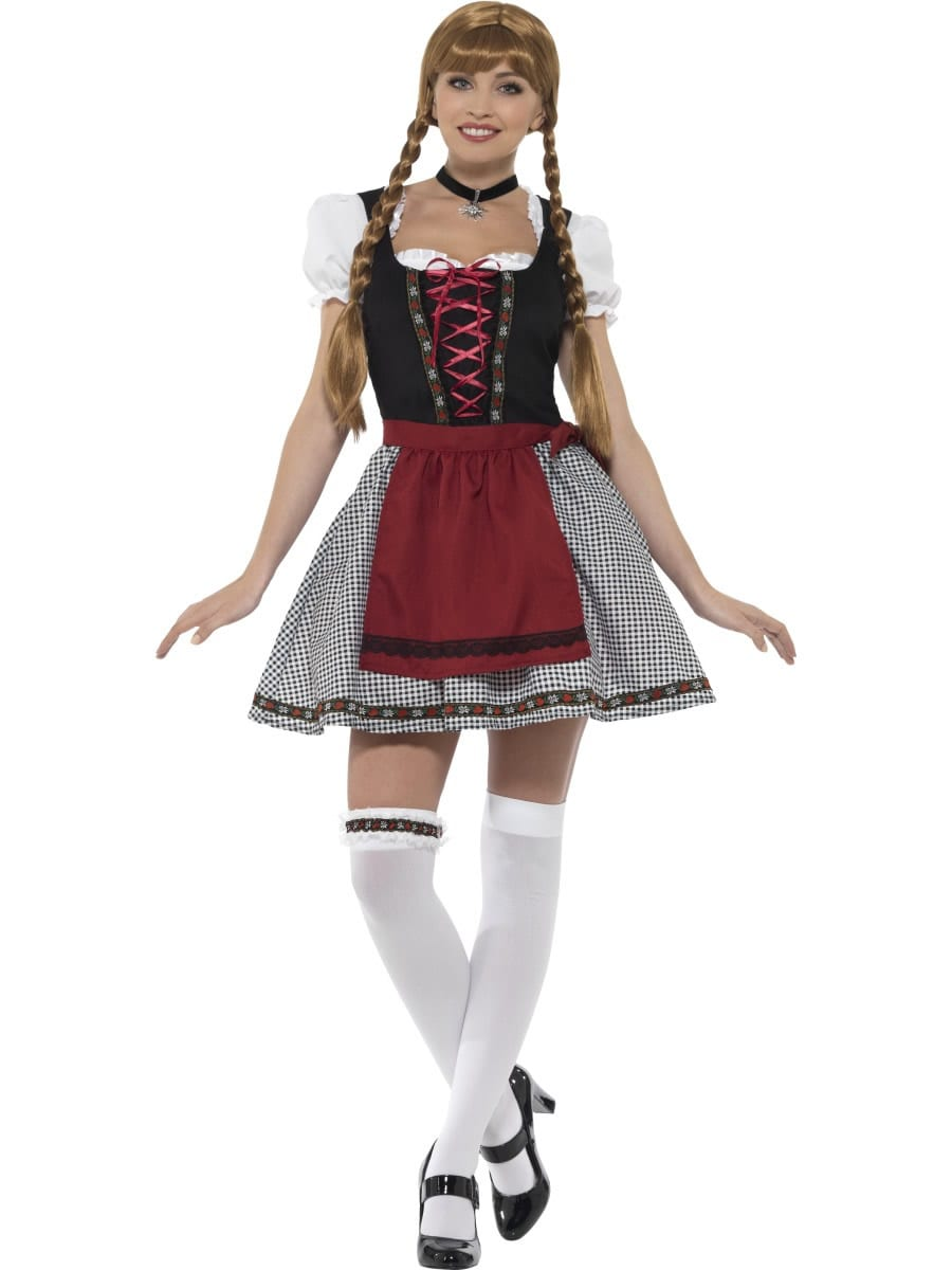 Flirty Fraulein Bavarian Ladies Fancy Dress Costume