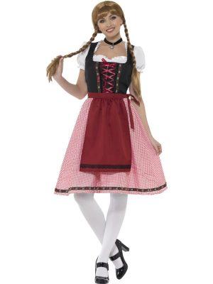 Bavarian Tavern Maid Ladies Fancy Dress Costume