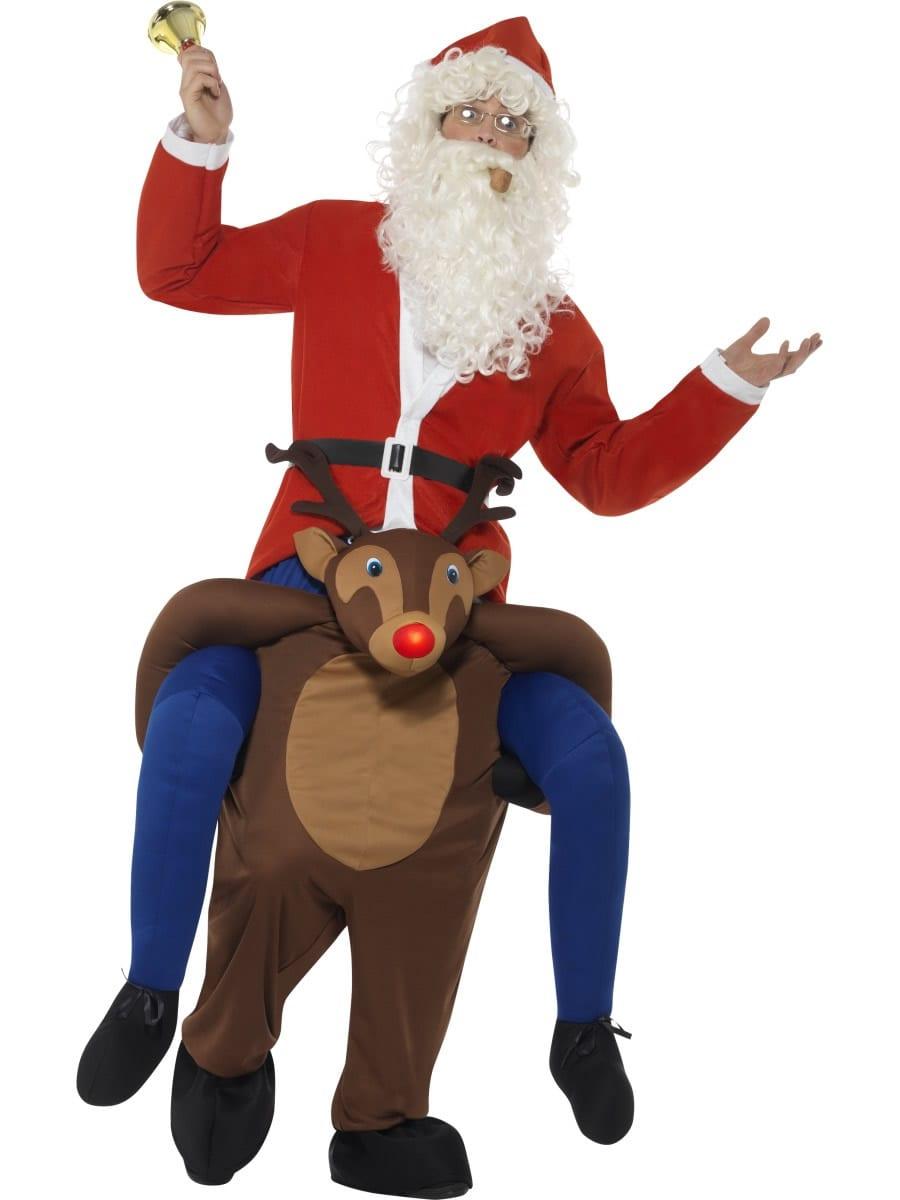 Piggyback Reindeer Rudolf Novelty Christmas Fancy Dress Costume