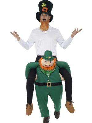 Piggyback Leprechaun Novelty Fancy Dress Costume