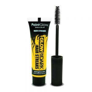 Glow in the Dark Hair Streaks Yellow with Applicator Brush 15ml