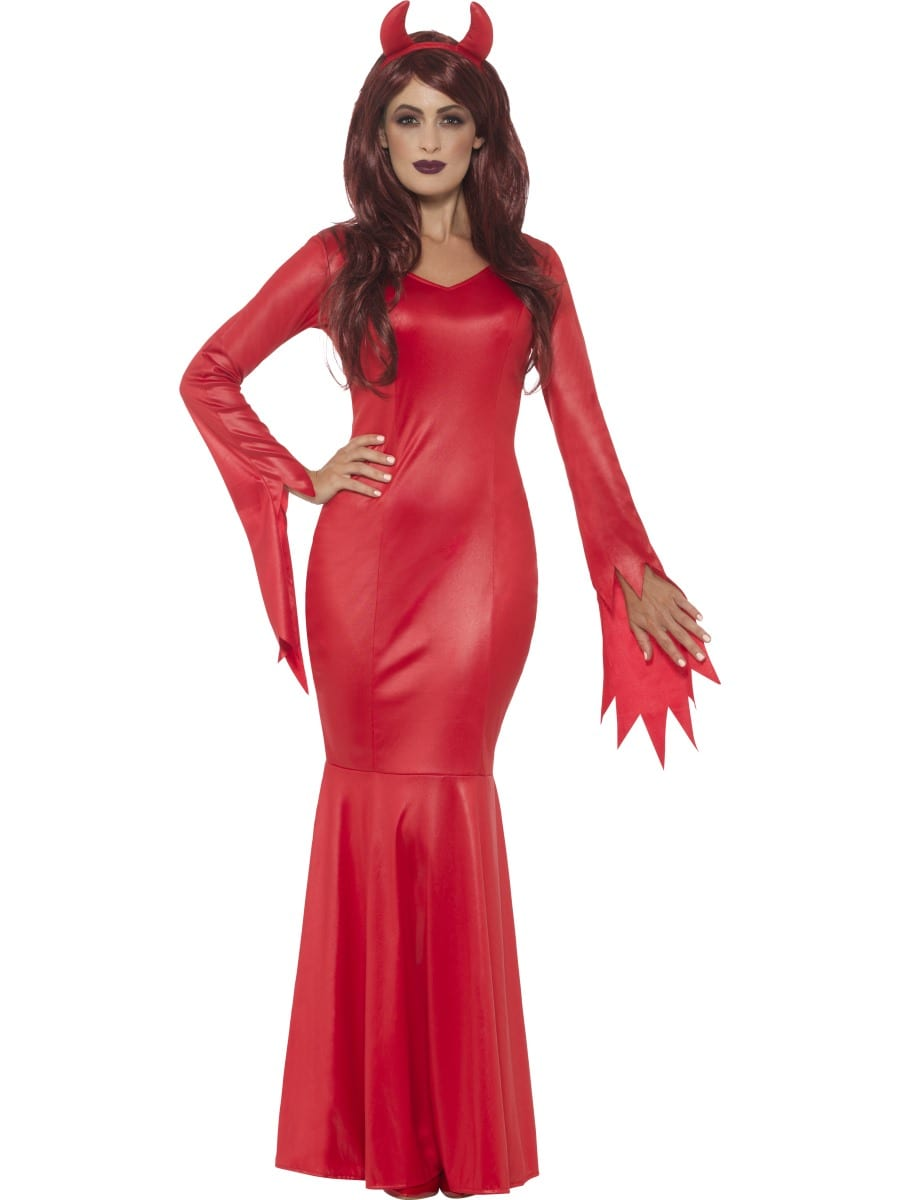 Devil Mistress Ladies Halloween Fancy Dress Costume