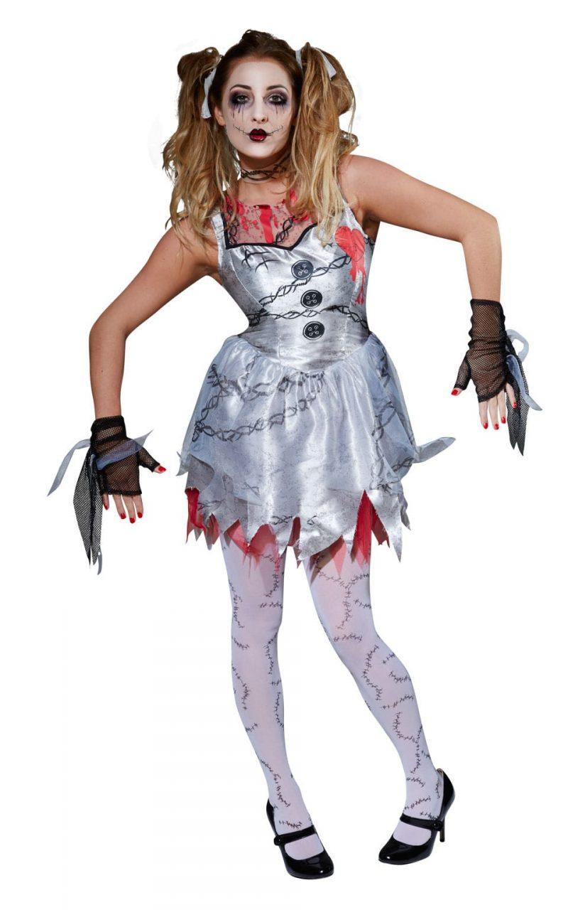 Dead Doll Ladies Halloween Fancy Dress Costume