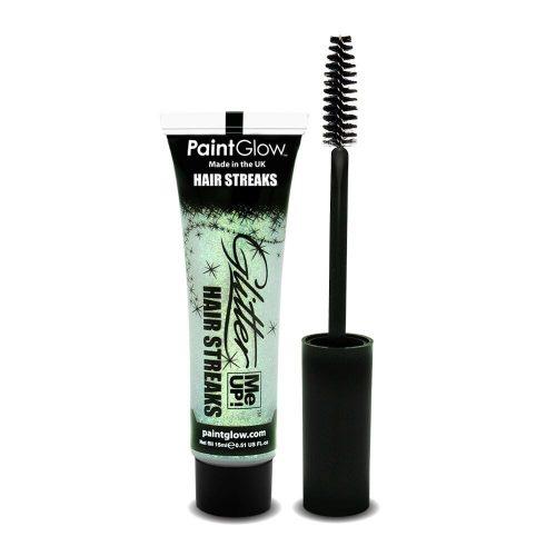 Glitter Hair Streaks White with Brush Applicator 15ml