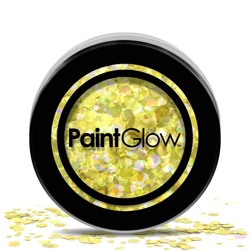 PaintGlow Chunky Cosmetic Glitter 3g Gold Digger
