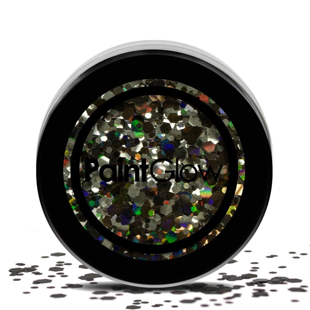 PaintGlow Chunky Cosmetic Glitter 3g Black Enchantress