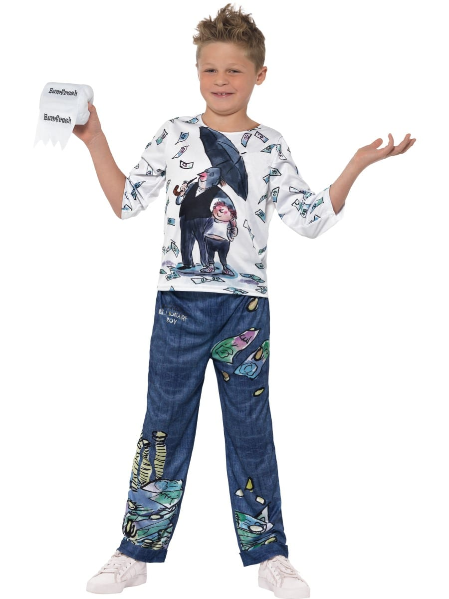 David Walliams Billionaire Boy Children's Fancy Dress Costume