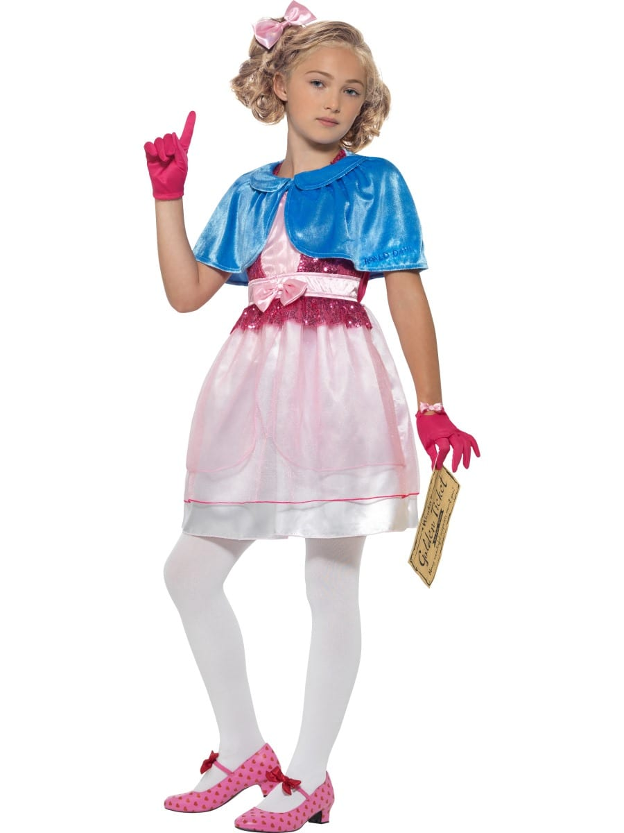 Roald Dahl Veruca Salt Children's Fancy Dress Costume