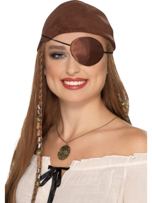 Deluxe Brown Satin Pirate Eyepatch