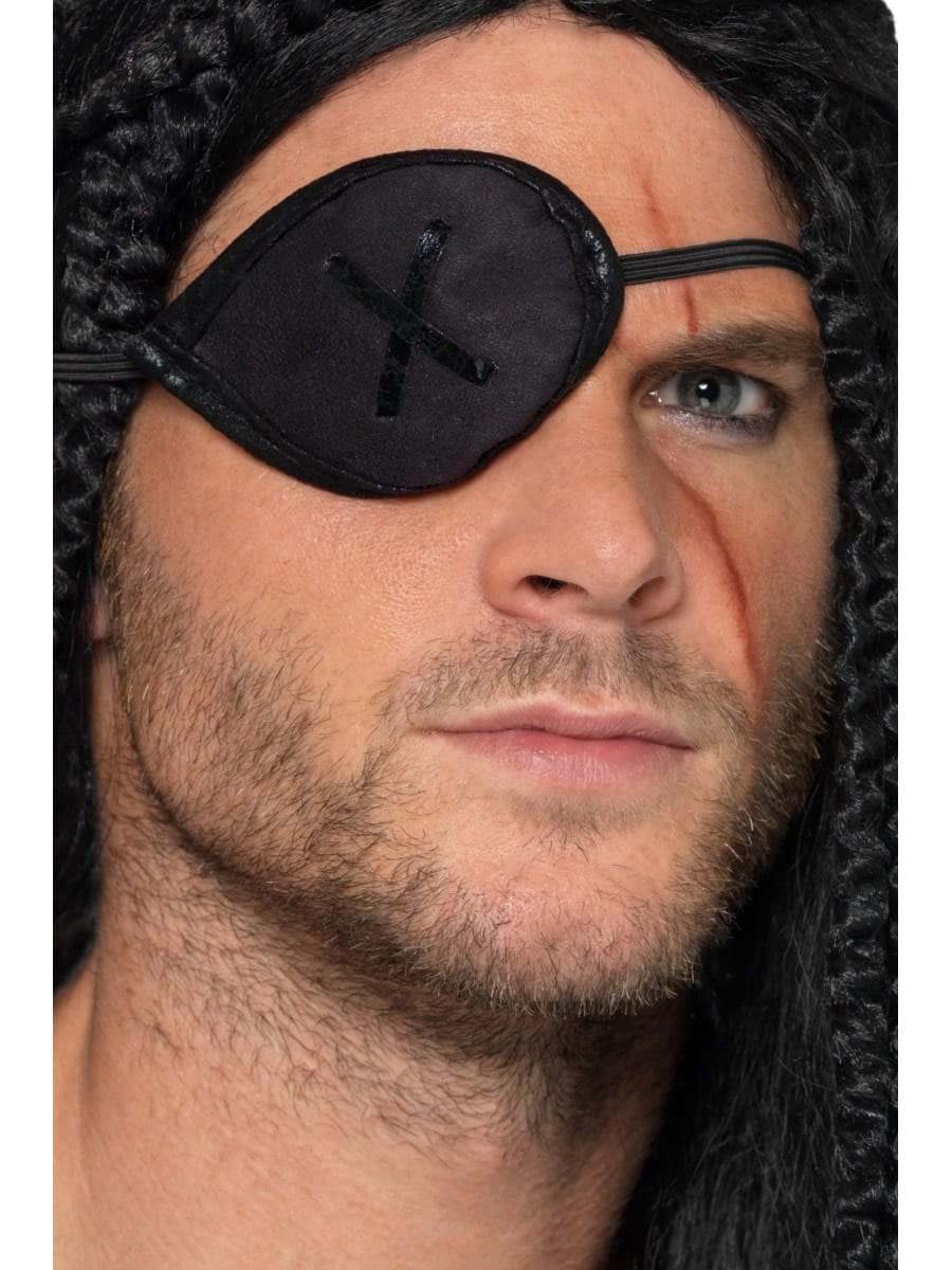 Pirate Eyepatch, Black, with Trim