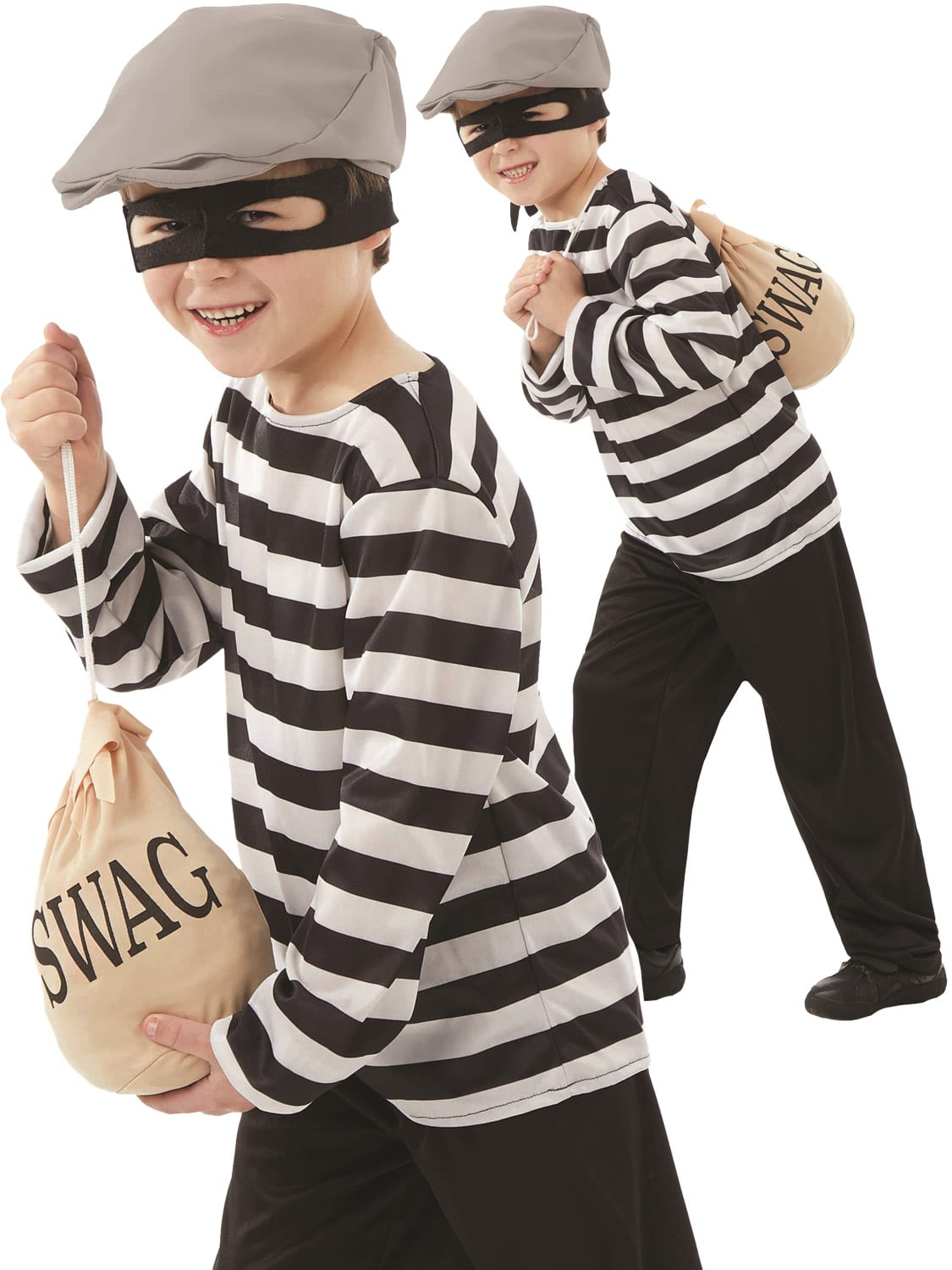 Burglar Children's Fancy Dress Costume