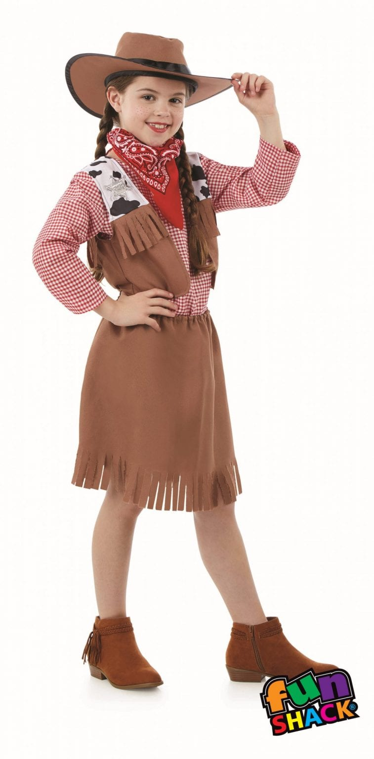 Cowgirl Children's Fancy Dress Costume